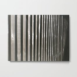 PARALLEL LINES SHADES OF GREY Metal Print