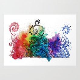 Swirly mandala art Art Print