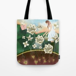 Origami Garden Tote Bag