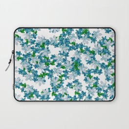 Summer Blues, Floral Pattern Laptop Sleeve