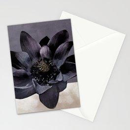Black Lotus Watercolor Digital Art 2 Stationery Cards