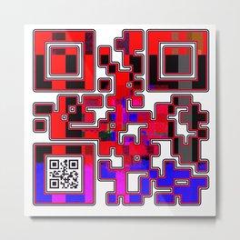 Desire QR Code Metal Print