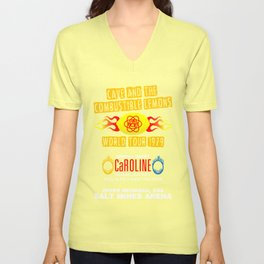 Cave & The Combustible Lemons Unisex V-Neck