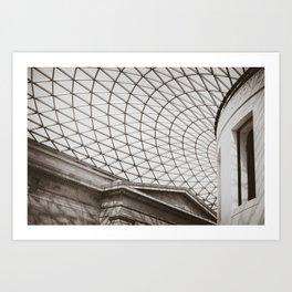 British Museum Roof Art Print