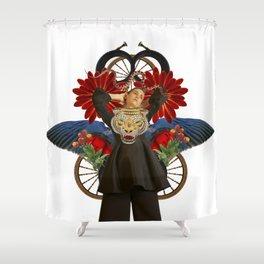 Tiger by Lenka Laskoradova Shower Curtain