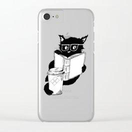 Original Coffee Cat Clear iPhone Case
