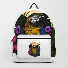 Tropical Parrot Backpack