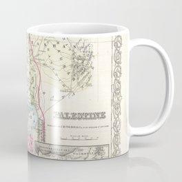 Old 1855 Historic State of Palestine Jerusalem Zion Map Coffee Mug