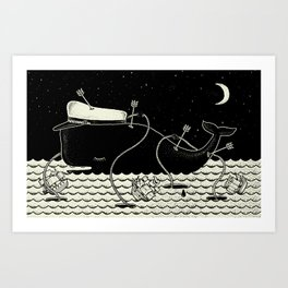 Go home Captain Jack, now you are free. Art Print
