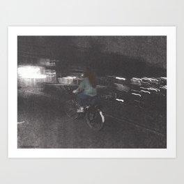 Julia Stole a Bike Art Print