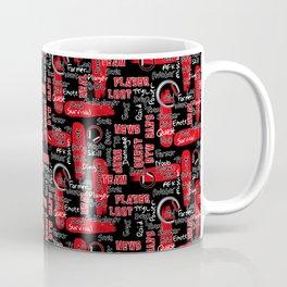 Gamer Lingo-Black and Red Coffee Mug