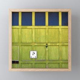 Garage Door Framed Mini Art Print