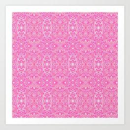 Pink Haring Art Print