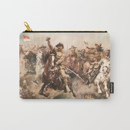 Teddy Roosevelt and The Rough Riders Charging Into Battle Carry-All Pouch