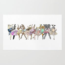 Animal Square Dance Rug