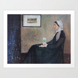 Whistler's Mother's Secret Addiction Art Print
