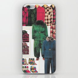 """dress your family in plaid"" Christmas nostalgic classic catalog iPhone Skin"