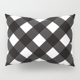 Contemporary Black & White Tilt Gingham Pattern - Mix & Match With Simplicty Of Life Pillow Sham