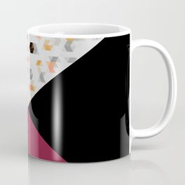 Little Triangles with Black and Pink Coffee Mug