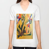 oakland V-neck T-shirts featuring Oakland Wall Flower by Oakland.Style