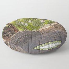 Tropical Hardwood Trees in Pokhara, Phewa Lake, Nepal Floor Pillow
