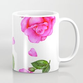 Shabby Chic Vintage Pink Rose Coffee Mug