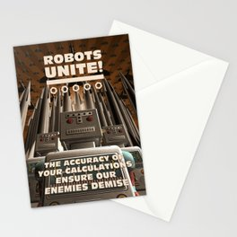 Robots Unite Stationery Cards