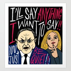 Cranky Rep. Don Young Art Print