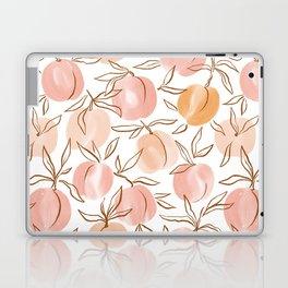 Watercolor peach Laptop & iPad Skin