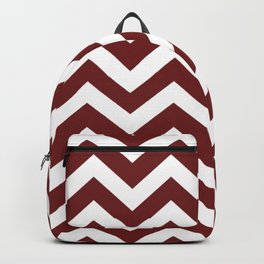 Persian plum - red color - Zigzag Chevron Pattern Backpack