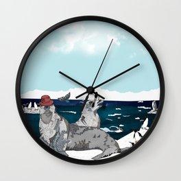 Waiting to The sun Wall Clock
