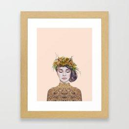 Rose Gold Lady Framed Art Print
