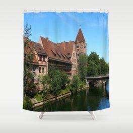 At The Pregnitz - Nuremberg Shower Curtain