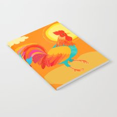 Orange Rooster Notebook