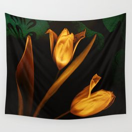 Tulips of the golden age Wall Tapestry