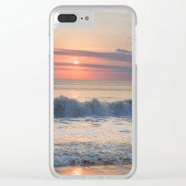 Bali Beach Sunset Clear iPhone Case