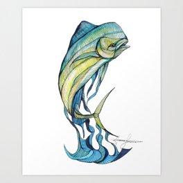 The Glass Mahi Mahi  Art Print