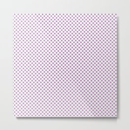 Violet Tulle Polka Dots Metal Print