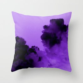 Purple stormy clouds Throw Pillow