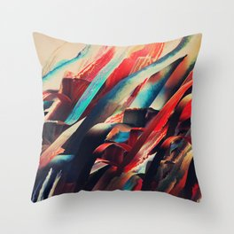 64 Watercolored Lines Throw Pillow