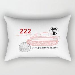 Michael Wittmann Panzer Ace 222 Villers Bocage White Rectangular Pillow