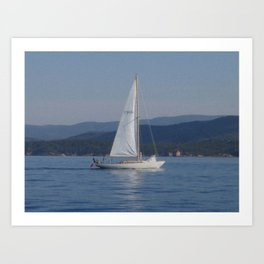 Classic Yacht Art Print