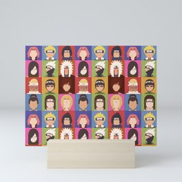 Anime Characters Mini Art Print