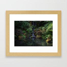 Garden Falls Framed Art Print