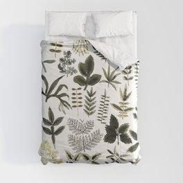 Watercolor of leaves Comforters