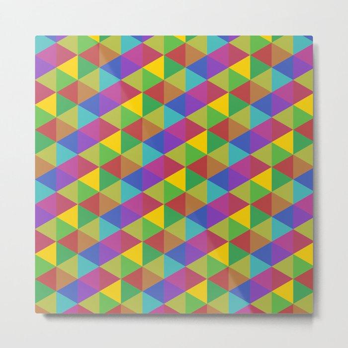 Harlequin Triangles Metal Print