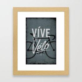 Vive Le Velo 2011 grayscale Framed Art Print