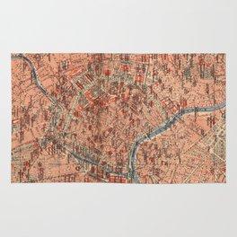 Vintage Map of Vienna Austria (1920) Rug