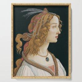 Sandro Botticelli's old Renaissance portrait Serving Tray