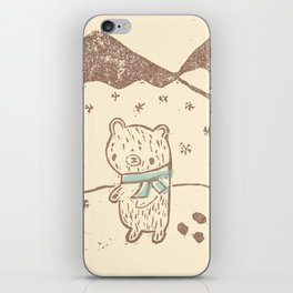 Polar Bear Takes a Walk iPhone Skin